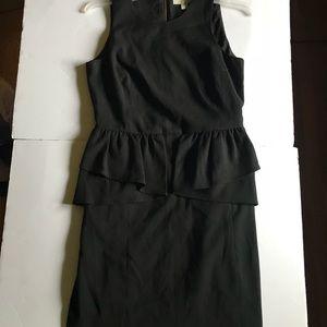 Michael Michael Kors Black Peplum Slit Dress